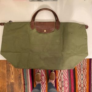 Longchamp Le Pliage large travel tote WELL-WORN